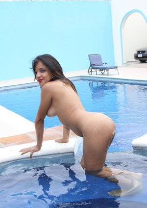 Latina at Pool Pics
